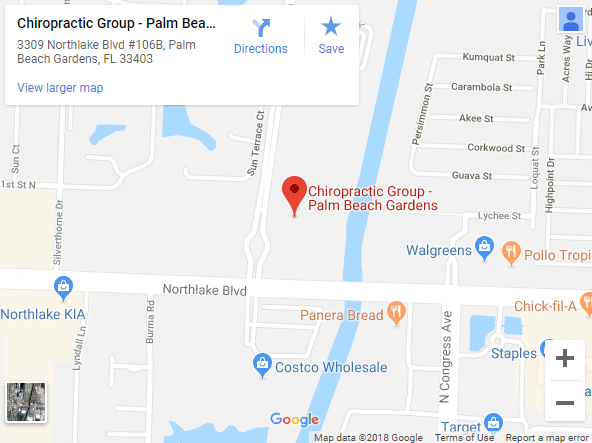 Map Of Palm Beach Gardens Chiropractors